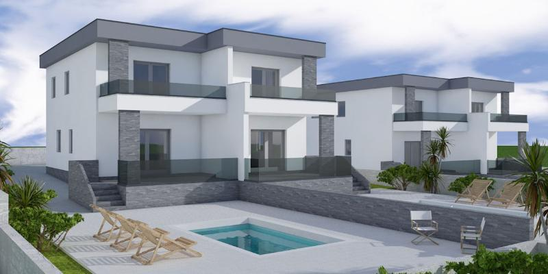 Modern semi-detached unit with own pool